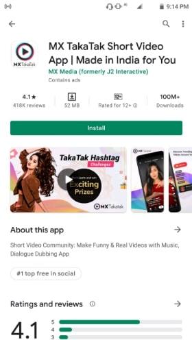 MX TakaTak app download install