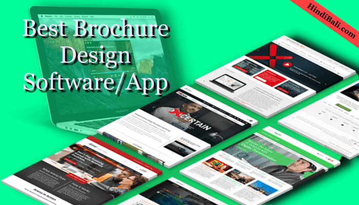 Brochure design softwear app